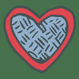 Heart hand drawn cartoon icon 8