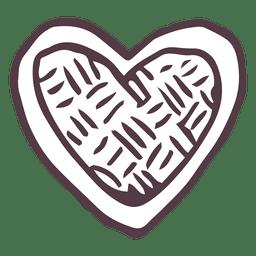 Icono dibujado mano del corazón 21