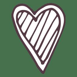 Icono de corazón dibujado a mano 49
