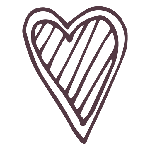 Heart hand drawn icon 49 - Transparent PNG & SVG vector file