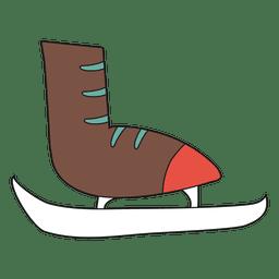 ícone dos desenhos animados patinar no gelo 35