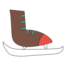 Ice skate cartoon icon 35
