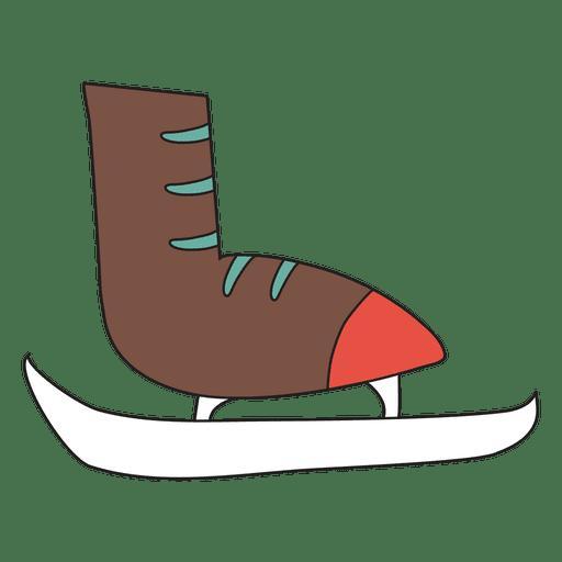 Icono de dibujos animados de patín de hielo 35 Transparent PNG