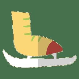 Patim de gelo ícone plana 8