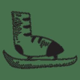 Ice skate hand drawn icon 45