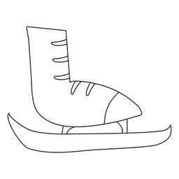 Ice skate hand drawn stroke icon 15