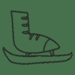 Patín de hielo dibujado a mano icono de trazo 15