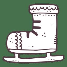 Iceskate icono dibujado a mano 8