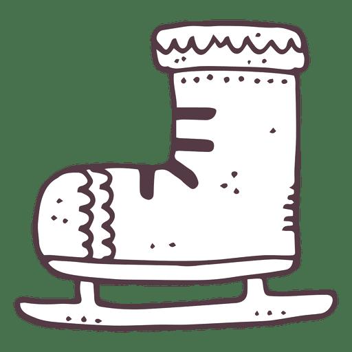 Iceskate icono dibujado a mano 8 Transparent PNG
