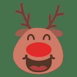 Emoticon de cara de reno de risa 55