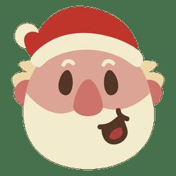 Lachen Weihnachtsmann Gesicht Emoticon 60