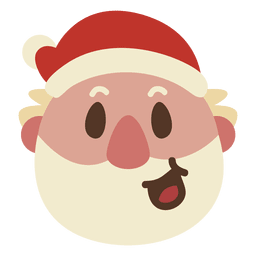 Risa de santa claus cara emoticon 60