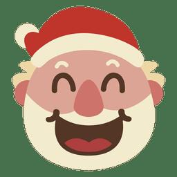 Lachen Weihnachtsmann Gesicht Emoticon 67