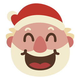Laugh santa claus face emoticon 67