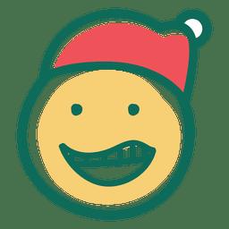 Risa de santa claus sombrero cara emoticon 25