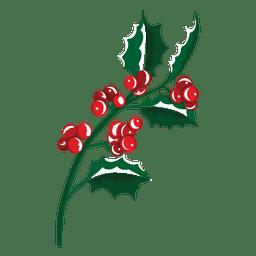 Icono de rama de muérdago 23