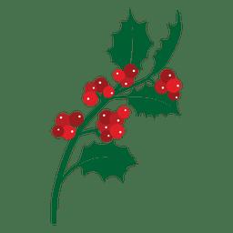 Icono de rama de muérdago 25