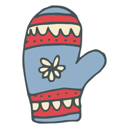 Mitten hand drawn cartoon icon 19