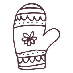 Mitten hand drawn icon 18