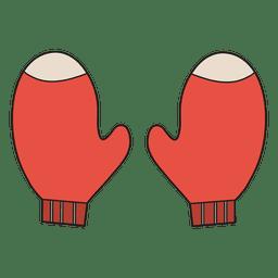 Luvas cartoon ícone 34