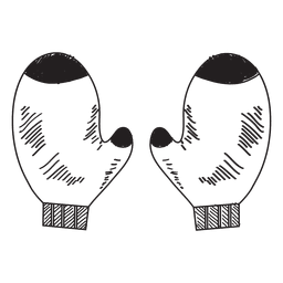 Mitones dibujado a mano icono 52