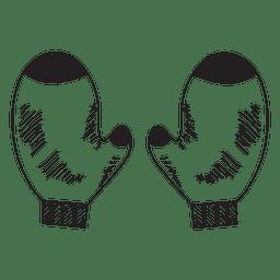Mittens desenhado à mão ícone 52