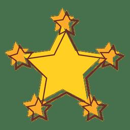 Desenho animado estrela multi 02