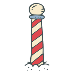 Icono de dibujos animados dibujado a mano de la raya del Polo Norte 12