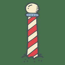 Icono de dibujos animados dibujados a mano raya del polo norte 12