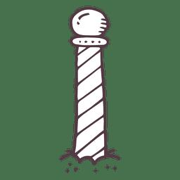 Icono dibujado de la mano de la raya del polo norte 9