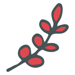 Olive branch hand drawn cartoon icon 21