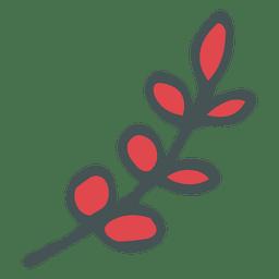 Olive branch hand drawn cartoon icon 21