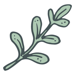 Olive branch hand drawn cartoon icon 4