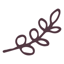Olive branch hand drawn icon 13