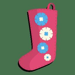 Icono de media de Navidad de flores rosa 24