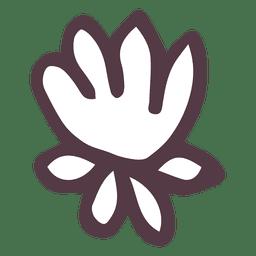 Mão de poinsétia desenhado ícone 4