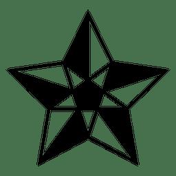 Estrella poligonal 3d 05
