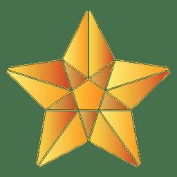 Poligonal 3d estrella 07