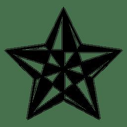 Polygonal star 3d 11