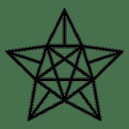 Polygonal star 3d 12