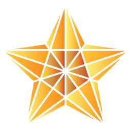 Polygonal star 3d 14