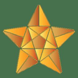 Poligonal 3d estrella 18