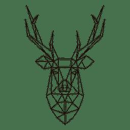 Cabeça de rena poligonal 23