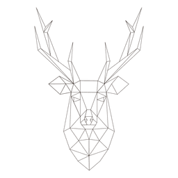 Polygonal reindeer head 23