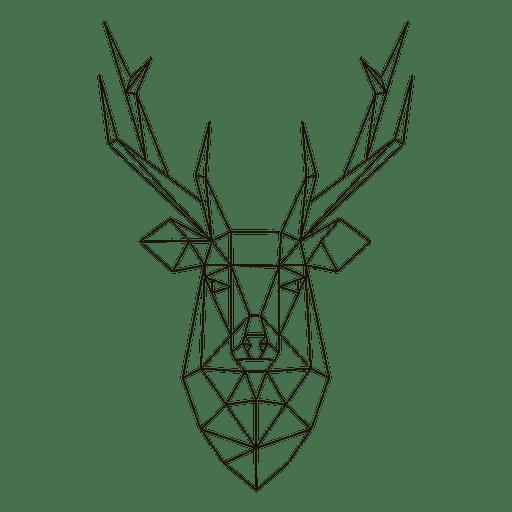 Polygonal reindeer head 23
