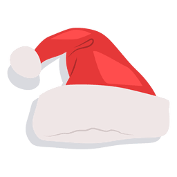 Red santa claus hat drop shadow icon 19