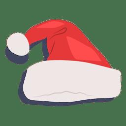 Sombrero de santa claus rojo icono de sombra 19