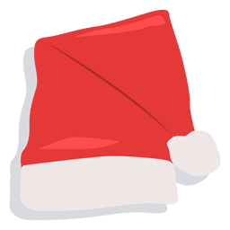 Red santa claus hat drop shadow icon 20