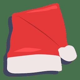 Sombrero de santa claus rojo icono de sombra 20