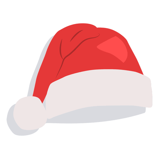 Red santa claus hat drop shadow icon 21